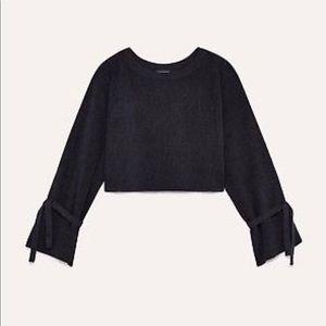 Aritzia Wilfred Baylee Cropped Wool Sweater